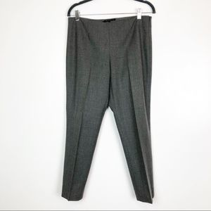 Theory Women's Gray Wool Ankle Trousers Sz 8